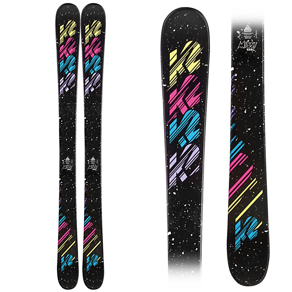 Ski K2 Missy Girls Skis - The K2 Missy is a all mountain twin that will help your junior skier step up her game, and help prepare her skills for when she is ready for her first adult twin. The torsion box, cap construction gives the Missy the, right flex, dimensions, and swing weight for this ski to go anywhere. Groomers, park, and powder the Missy can take it all on. K2's All Terrain Rocker has tip rocker to initiate turns easier on the hard pack, float better in powder, and deflect the negative energy from crud on the groomers. The camber underfoot will give her plenty of spring and rebound when she starts to fly by you on the groomers. The Missy is a great option when you little lady starts asking for her first pair of twin tips, get them today . Tip/Waist/Tail Widths: 100/75/96 (@139cm), Actual Turn Radius @ Specified Length: 12m (@139cm), Warranty: One Year, Type: All-Mountain Skis (75-90), Gender: Girls, What Binding is Included?: None, Construction Type: Cap, Core Material: Wood, Base Material: Extruded, Tail Profile: Twin, Special Features: All Terrain Rocker, Special Features: Directional Taper, Bindings Included: No, Binding DIN: None, Rocker: Rocker/Camber/Rocker, Binding Weight Range: None, Race: No, Twin Tip: Yes, Alpine Touring: No, Used: No, Titanium: No, Turn Radius: 11-15, Waist Width: 70-75mm, Ski Gear Intended Use: All Mountain, Skill Range: Intermediate - Advanced, Model Year: 2012, Product ID: 226767, Shipping Restriction: This item is not available for shipment outside of the Uni - $79.94