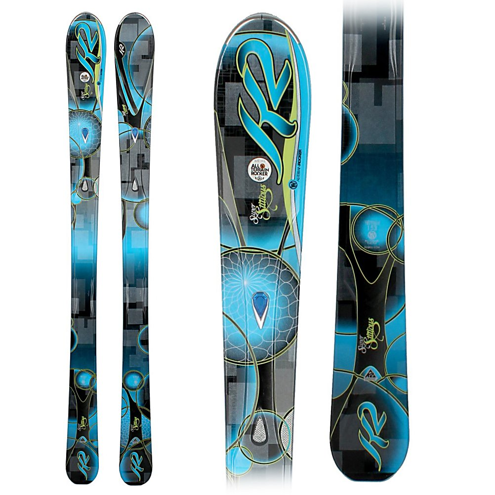Ski K2 SuperStitious Womens Skis - The new SuperStitious from K2 is a tough womens ski for skiing the ungroomed snow with good hard pack capabilities. The All Terrain Rocker is tip rocker with camber underfoot. The tip rocker keeps the tips floating as you charge down the back bowls, and absorbs the negative energy that is brought on from moguls and crud. Tip rocker, a progressive sidecut, and Hybritech sidewalls also helps the ski hook up and grab when it is time to lay down some carves when the bowls haven't had snow in a few days. The Bioflex 3 core with metal laminates are a good mix of power, and rebound for almost every women that has an intermediate skiing ability or above. The MOD Technology, and MOD Monic dampening system are a suspension system that absorb vibrations, and impact loads along the entire edge of the ski giving you better edge hold, with more power and stability, without affecting the flex of the ski. The new SuperStitious is a great ski for an expert woman, or a strong intermediate without being to demanding, who likes to spend most of her time where the snow is soft and fluffy. . Tip/Waist/Tail Widths: 128/84/112mm (@ 160cm), Actual Turn Radius @ Specified Length: 14m (@ 160cm), Warranty: One Year, Construction Type: Cap/Sidewall, Core Material: Wood w/ Metal Laminate, Base Material: Sintered, Tail Profile: Flat, Special Features: All Terrain Rocker, Special Features: Bioflex 3 Core (Aspen/Paulownia/Bamboo) With Metal Laminates, Rocker: Tip Rocker/Camber, Used: No, Titanium: Yes, Turn - $299.99