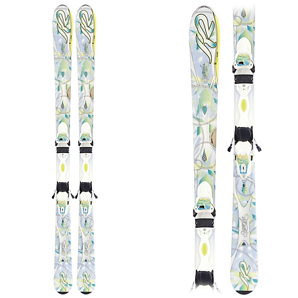 Ski K2 SuperIfic Womens Skis with Marker ER3 10.0 Bindings - The new SuperIfic replaces the best selling K2 True Luv. A solid intermediate ski for women of all ages. Engineered to be 10-20% lighter the SuperIfic can take on the whole mountain without making your legs burn. A 76mm waist and K2's All Terrain Rocker (rocker in the tip with slight tail rocker) gives you good flotation, and quicker turn initiation. Tip rocker also deflects some of the negative energy from crud that can collect on the groomers. The Bioflex 1 core is 60% aspen wood and 40% paulownia to keep the ski lightweight and forgiving. The Marker/K2 ER3 binding system is lighter, lower and wider giving you more control, and more efficient energy transfer from the ski to the binding. The MOD Monic dampener on the shovel of the ski absorbs the vibrations brought on by you picking up speed and making short to medium radius turns down the blues and blacks. The Mod technology suspension system absorbs vibrations, and impact along the entire edge of the ski, giving you more power, and control without affecting the flex of the ski. The new SuperIfic will be a great ski for the solid intermediate women of all ages. Features: MOD Technology, MOD Monic Chip. Tip/Waist/Tail Widths: 120/76/104 (@160 cm), Actual Turn Radius @ Specified Length: 14m (@160cm), Warranty: One Year, Type: All-Mountain Skis (75-90), Gender: Womens, What Binding is Included?: Marker ER3 10.0, Construction Type: Cap, Core Material: Wood, Base Material: Sintered, Tail Profile: Flared, Special Features: All Te - $299.90
