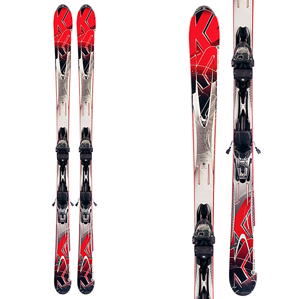 Ski K2 A.M.P. Force Skis with Marker/K2 M3 10.0 Bindings - The K2 Force is a mellow and forgiving ski for the true beginner, or the tween who is ready for their first adult system ski, who wants to be a force on the mountain someday. K2's Catch Free Rocker is slight tip and tail rocker with camber underfoot. The rocker in the tip will help you initiate a turn quicker, and absorb negative energy and vibrations that happens when crud and chop accumulates on busy groomers. Tail rocker will help you exit a turn with ease, helping you progress from a skidded turn to a carved turn. A composite core, Glass Web, and Polyurethane Cap make the Force nice a forgiving, to favor a skier that is lighter weight, or not very aggressive. The Torsion Box construction, and MOD Monic dampening system gives the Force some torsional rigidity, and stability when the time comes for you to put the ski on edge, and lay down some short to medium radius turns. The new M3 binding plate is lower, wider, and lighter than in the past to add more control, and a more efficient energy transfer from the binding to the ski. The new K2 Force is a great ski for someone who is a true beginner or the tween who is ready for their first system ski. . Tip/Waist/Tail Widths: 118/74/103 (@174cm), Actual Turn Radius @ Specified Length: 17m (@174cm), Warranty: One Year, Type: Frontside Skis ( - $299.99