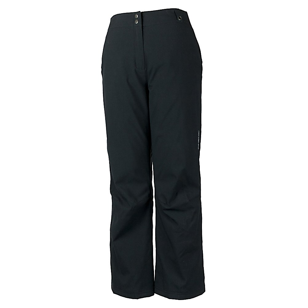 Ski Obermeyer Sugarbush Stretch Long Womens Ski Pants - The Obermeyer Sugarbush Long Stretch Ski Pants are a classic fit pair of comfortable, warm and cute pants that you could wear all day on the slopes. They offer a soft Permaloft Needlepunch Insulation to keep your days on the slopes as comfy as possible. The lightweight insulation is water-resistant and adjusts to the body's position. With HydroBlock, you'll have a polyurethane coating that ensures that these Sugarbush Stretch Pants are both waterproof and breathable so you can stay dry and warm even when the weather outside is chilly and snowy. Style and quality are the features you demand when you're on the mountain, The Sugarbush Long Stretch Pant by Obermeyer full fills your requests. The Obermeyer Sugarbush Long Ski Pant is for women who want a sleek, functional pant that's comfortable to wear. The Sugarbush has a feminine shape, but the fit is looser for great freedom of movement and versatile enough for all different temperatures. Features: Reinforced scuffguards, Zippered coin pocket, Ski pass/ticket ring. Exterior Material: Nylon, Softshell: No, Insulation Weight: 60g, Taped Seams: Critically Taped, Waterproof Rating: 8,000mm, Breathability Rating: 5,000g, Thigh Zip Venting: No, Suspenders: None, Articulated Knee: No, Low Rise: No, Warranty: Lifetime, Race: No, Waterproof: Moderately Waterproof (5000mm-19,999mm), Breathability: Moderate Breathability (4000g-8999g), Use: Ski, Type: Insulated, Cut: Regular, Lining Material: Nylon/HydroBlock, Waist: Elastic, Pockets: 1-2 - $111.59