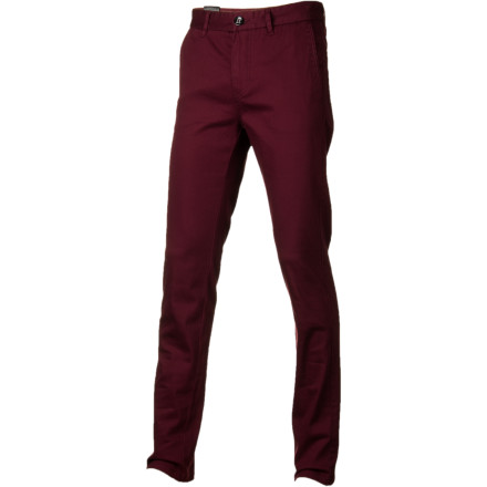 Surf Don't be a loner in the Billabong Outsider Men's Chino Pant. Slim fit gives a modern look that will have the ladies flocking, and a little bit of spandex allows for mobility so you can show off on your moves on the dance floor. - $64.45
