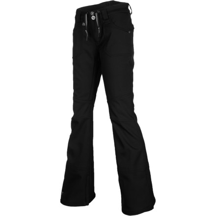 Snowboard The Nike Women's Willowbrook Pant offers premium protection from wet weather and pairs it with the sophisticated style of the skinny-slim fit and textured finish of the composite polyester material. Now you can take charge of the mountain while maintaining a sense of fashion. - $89.98