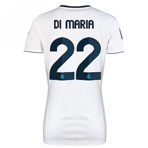 Entertainment Women's Di Maria Real Madrid Home Soccer Jersey 2012/2013