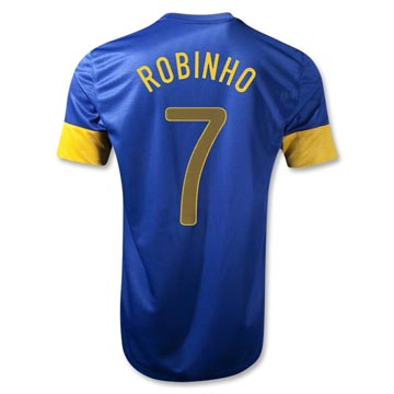 Sports Brazil RONALDO #7 Away Soccer Jersey 2012-13 Season