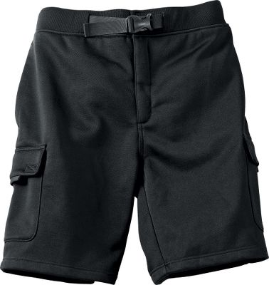 Camp and Hike The long-lasting durability you expect from our Guidewear collection, now in performance shorts. They're made of heavyweight 390-gram fleece with rugged nylon nailhead trim at wear points. And they're ideal for lounging in camp after a day on the water or as casual wear around home. They feature a seven-pocket design, adjustable belt and zip fly. 80/20 polyester/cotton. Imported. Sizes: S-3XL.Colors: Black. - $24.99