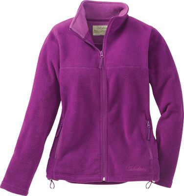 An affordable jacket with chill-warding style. Zipper extends all the way up the stand-up collar. 100% polyester fleece. Zip-up hand warmer pockets. Adjustable hem. Embroidered Cabela's logo. Machine washable. Imported. Sizes: S-2XL. Colors: Begonia, Cedar Green, Vintage Grape, Black, Purple Cabbage, Cedar Blue, White Sand. - $13.88
