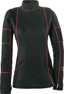A fun new look coupled with warmth and stay-dry performance. Crafted of 4.1-oz. Polartec PowerDry fabric with Polygiene odor-resistant technology, its inner layer (100% polyester) transports moisture away from the skin and the outer layer (92/8 polyester/spandex) quickly dissipates it. This leaves a soft, dry surface next to your skin. The outer fabric is smooth-faced, so other layers slip on and off easily. Odor-resistant grid channel back for breathability, heat retention and superior packability. Smooth flatlock stitching adds modern styling and next-to-skin comfort. Imported. Sizes: S-2XL. Colors: Black, Smoke. Size: Medium. Color: Black. Gender: Female. Age Group: Adult. Material: Polyester. Type: Base Layer Tops. - $49.99