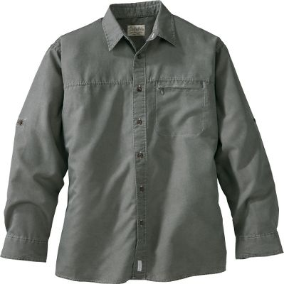 With a broken-in feel from the first time you wear it, this shirt could easily become your new favorite. A rear box pleat provides added freedom of movement. Swiss-tab sleeves for easy one-hand rolling. Zippered chest pocket. Six-button closure. Easy-Care 70/30 modal/polyester construction. Imported.Sizes: M-2XL.Colors: Antique Blue, Antique Green, Antique Autumn, Antique Sandy Brown. Type: Long-Sleeve Shirts. Size: Large. Color: Antique Green. Size Large. Color Antique Green. - $9.88