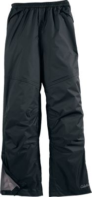 Lightweight, water-resistant rainwear pants that pack down so well, they easily stuff into their own back pocket. Crafted of durable 100% nylon dobby with a 100% polyester mesh liner. Leg zippers make these pants easier to get on and off and feature storm flaps for added coverage. Adjustable elastic waist and slash pockets with welt coverings. Articulated knees. Imported.Inseam: 24.Sizes: S-2XL.Color: Black. Type: Rain Pants. Size: X-Small. Color: Black. Size Xs. Color Black. - $23.88