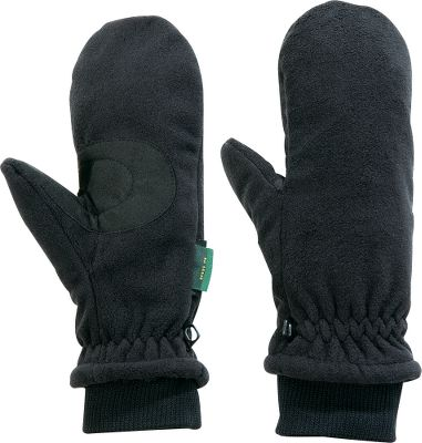 These lightweight mittens are made from high-density, single-ply polyester fleece fabric for wind-blocking performance and breathable comfort. Pliable, form-fitting design. Machine washable. Imported. Sizes: S/M, L/XL. Color: Black. - $5.88