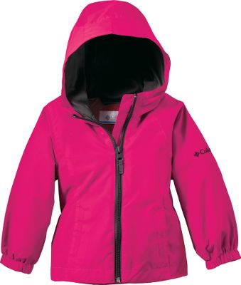 When a cold breeze threatens to put a chill in your little ones outdoor fun, this jacket will keep her cozy and happy. A layer of Columbias windproof Omni-Wind Block turns away stiff breezes. The water-resistant shell will shield her from light moisture. A 100% polyester Interlock lining wicks away moisture while locking in warmth. The attached hood adjusts to fit your childs head without blocking her vision. Drop tail. Imported.Sizes: 2T-4T.Colors: Fairytale, Bright Rose. - $21.88