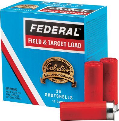 Cabelas and Federal are names sportsmen have relied on for generations, and this specially packaged ammunition celebrates their decades of excellence. The exclusive box design is a throwback to years gone by, and so is the price! Available in traditional lead loads for target and high-volume wingshooting. Per 25. Type: Lead. - $7.99