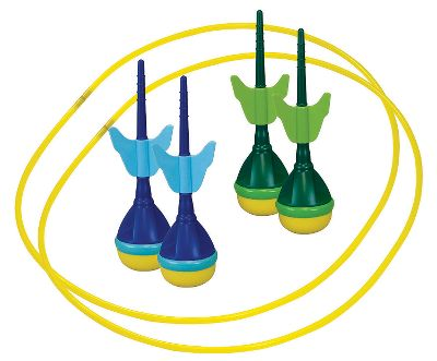 Camp and Hike Perfect for your next camping trip or backyard barbecue, this fun game will keep friends and family entertained for hours. Just set up the two included scoring rings and toss the four soft-tip darts to score points. Includes instructions and a convenient carry/storage bag. - $17.88