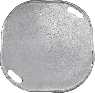 Camp and Hike Cook and serve a variety of food with this durable pizza tray. Food-safe aluminum construction withstands temperatures of up to 1,000F and wont tarnish, rust or break. Works well for fish, nachos, vegetables and other items. Doubles as a serving tray to keep your food warm after cooking. Manufacturers limited lifetime warranty. Dimensions: 15.25L x 15.5W x 0.75H. Color: Rust. - $49.99