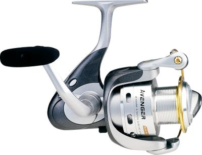 Fishing The Avenger is a smooth working reel with six ball bearings for easy retrieves. A graphite frame, sideplate and rotor keep the weight to a minimum, but durability to the maximum. Quick-set anti-reverse roller bearing. Multidisc oiled-felt drag washers. Precision machine-cut brass pinion gear. Patented Elliptical Oscillation System. Hydro Block watertight drag seal. Aluminum spool. - $14.88
