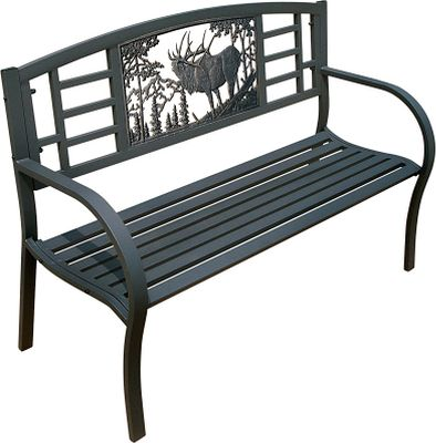 Camp and Hike High-quality castings bring wildlife scenes from Painted Sky Designs to your porch, patio or garden. The maintenance-free, powder-coated-finish tube-steel Bench will give you years of trouble-free beauty and comfort. Assembly required.34H x 50W x 19D.Seat height: 14.Weight: 68 lbs.Available: Deer, Elk. Type: Benches. Size Deer. - $179.88