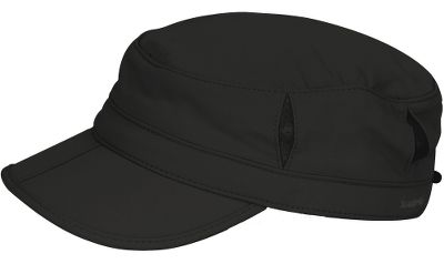 A water-resistant, ultralightweight cap that will go anywhere life takes you. Side mesh vents keep you cool, and a drawstring closure provides a secure fit when the wind picks up. The unique clamshell brim folds in half for storage. Internal wicking sweatband and small crown pocket. UPF rating of 50+. 100% nylon construction with polyester mesh. Imported.Size: M.Colors: Black, Cream. - $19.50