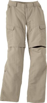 Roll-up leg feature and redesigned with longer shorts (10) and extra carrying capacity, so you can switch from pants, to capris, to shorts. Made of a quick-drying, abrasion-resistant nylon with a durable water-repellent finish. Elastic on belt loops for zipped-off leg storage. UPF rating of 30. Imported. Even sizes: 4-16. Pants inseam: 32.Shorts inseam: 10. Colors: Dune Beige, New Taupe Green, Pache Grey. - $34.88