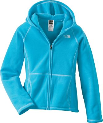 Your girl will love the ultrasoft feel of this chill-busting fleece. Glacier full-zip hoodie is crafted of extra-durable, pill-resistant polyester fleece for lightweight warmth. Contrast stitching at seams add a little style. Kangaroo handwarmer pockets keep her hands toasty warm. Imported.Sizes: XS-XL.Colors: Pixie Purple, Turquoise Blue, Linaria Pink. - $32.88