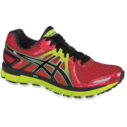 Fitness The ASICS GEL-Excel33(TM) 2 men's road-running shoes adapt and respond to each step for exceptional comfort. These shoes are engineered for supinators to mild overpronators. - $61.83