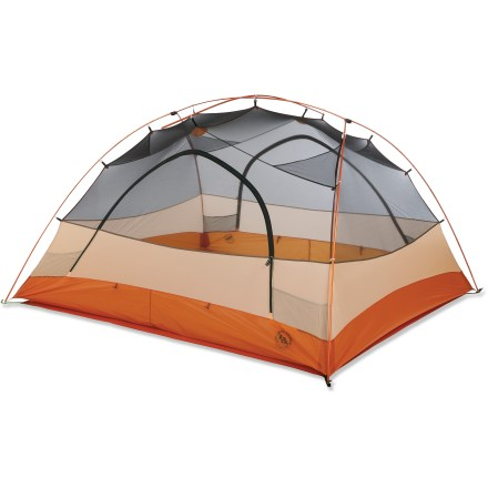 Camp and Hike Enjoy a fantastically light load and plenty of living space with the Copper Spur UL4 tent from Big Agnes-its trail weight weighs in at scant 5 lbs. 5 oz.! - $449.93