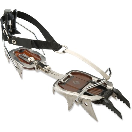 Climbing The Black Diamond Cyborg Pro step-in crampons blend high-end performance with minimal weight to get you up steep waterfall ice and difficult mixed routes. - $159.93
