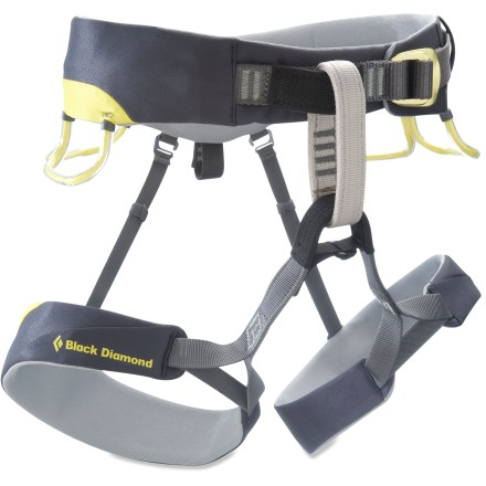 Climbing The Black Diamond Chaos climbing harness is a premier trad climbing harness for serious rock hounds. It offers comfort and functionality to keep you happy on all-day climbs. - $74.93