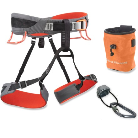 Climbing The Black Diamond Momentum SA climbing harness package sets you up for a season full of rock climbing in the gym, at the crag or in the mountains. - $69.93