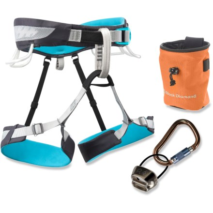 Climbing The Black Diamond Primrose SA climbing harness package for women sets you up for a season full of rock climbing in the gym, at the crag or in the mountains. - $69.93