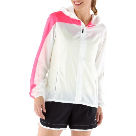 Fitness The women's Brooks L.S.D. Lite III jacket offers lightweight protection when the weather is unpredictable. - $20.83