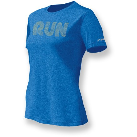 Fitness Imagine your favorite T-shirt went through the wash and came out even softer, brighter and with a better fit. If it did, it might look something like the Brooks EZ Run Mist T-Shirt. Wicking polyester fabric moves moisture away from skin and to the exterior of the shirt for rapid evaporation. Antimicrobial treatment helps control odors. Semifitted EZ Run Mist T-shirt skims the body, allowing it to wick moisture away without being too tight. - $22.93