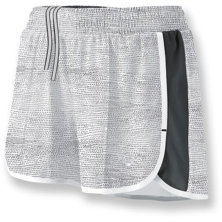 Fitness Run your best in the Brooks Epiphany Stretch II shorts. With lightweight materials, a great fit and helpful features, they can keep up with any pace you choose. Stretch-woven outer shorts wick moisture, dry quickly and breathe well; fabric features partially recycled content. Spliced mesh side panels enhance breathability. Moisture-transfer liner is lightweight, fast drying and buttery soft. Elastic drawcord waist personalizes fit and internal pocket stores a key. The semifitted Epiphany Stretch II shorts are not too tight and not too loose. - $40.00