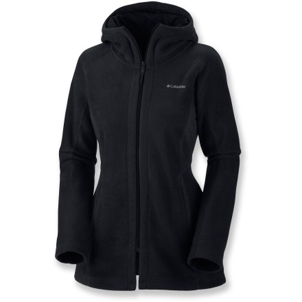 Camp and Hike The Columbia Benton Springs(TM) Long fleece hoodie takes the cozy warmth you've come to expect from your favorite fleece and lengthens it. More fleece and more warmth all around! Nylon taffeta lining in hood offers extra warmth. Benton Springs Long Fleece hoodie features an attached hood and 2 zippered hand pockets for easy storage. - $34.93
