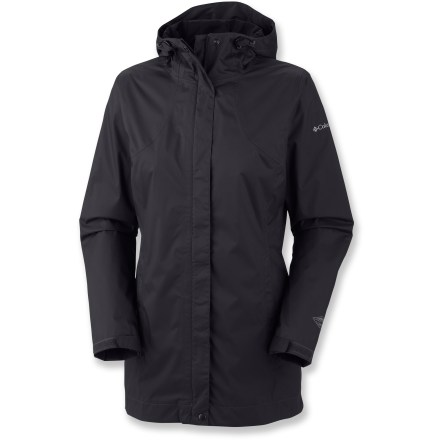 Entertainment Stay dry even in extreme conditions wearing the Columbia Splash A Little rain jacket. Whether it's walking your dog on a blustery day or hiking along rainy trails, this jacket promises protection. - $90.00