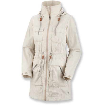 Blending classic design elements and practical outdoor features, the Columbia Brooklyn Avenue safari jacket sheds water and helps keep you protected during your adventures. - $76.73