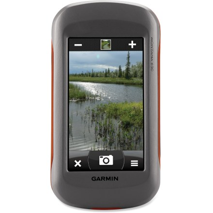 Camp and Hike The Garmin Montana 650 GPS features a large touch-screen display and a 5-megapixel camera, and is waterproof and tough enough to withstand all your outdoor adventures. - $396.93