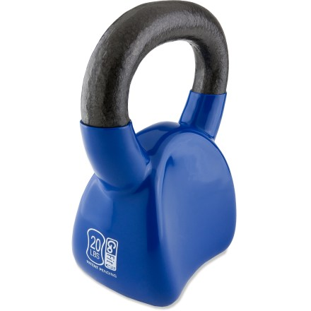 Fitness The 20 lb. GoFit Contour kettlebell with DVD has an ergonomic design that fits your wrist and forearm for greater comfort during your workout. - $26.93