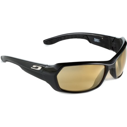 Entertainment Keep a sharp eye on the line, whether it's over deep ruts, stones, roots, or ravines with the adaptable Julbo Dirt photochromic sunglasses that can be worn in a wide variety of light conditions. - $160.00