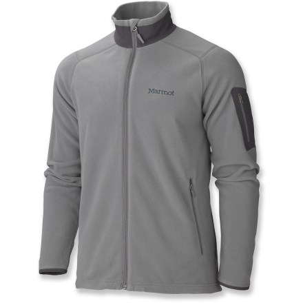 Camp and Hike The Marmot Reactor fleece jacket is cleanly designed in supersoft, lightweight pile. Wear the Reactor for warmth on the slopes or as a sharp-looking, cool-weather outer layer. - $46.83