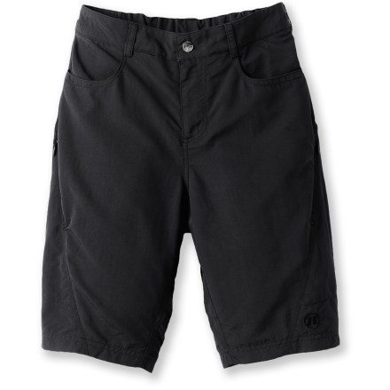 Fitness The Novara Mudster double bike shorts for boys hold up to the wear and tear that kids dish out. Their mesh liner shorts and built-in chamois provide comfort on the bike. - $9.83