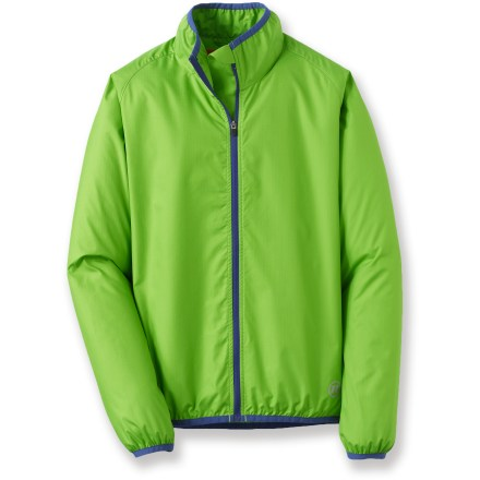 Fitness The boys' Novara Stowable bike jacket is so light, comfortable and quiet, he may forget he has it on. When he takes it off, it stows conveniently in its own pocket. - $9.83