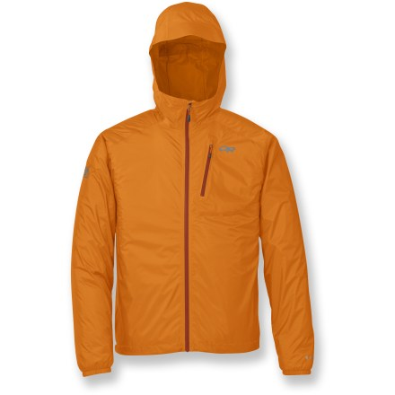 The Outdoor Research Helium II jacket offers complete storm protection for fast-moving outdoor athletes. It's so light you'll forget it's clipped to your harness until that sudden downpour. - $159.00