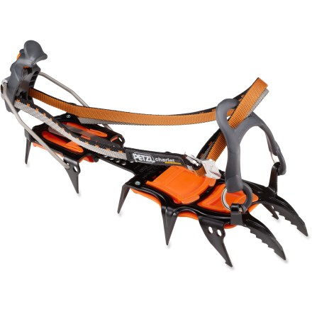 Climbing Updated with structural reinforcements and a new heat-treatment process to improve strength and durability, the Petzl Sarken Leverlock crampons are ideal for adventures in mixed terrain. - $199.95