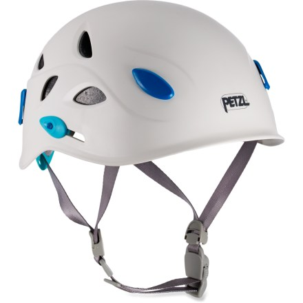 Climbing Designed to meet the specific needs of women, the Petzl Elia climbing helmet provides great comfort and protection for rock climbing, ice climbing, mountaineering, canyoning and caving. - $34.93
