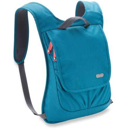 Entertainment The REI Cambria Flap daypack is a compact daypack with a slim profile. It's structured to carry minimal daily necessities, including your tablet, with comfort and ease. - $23.93