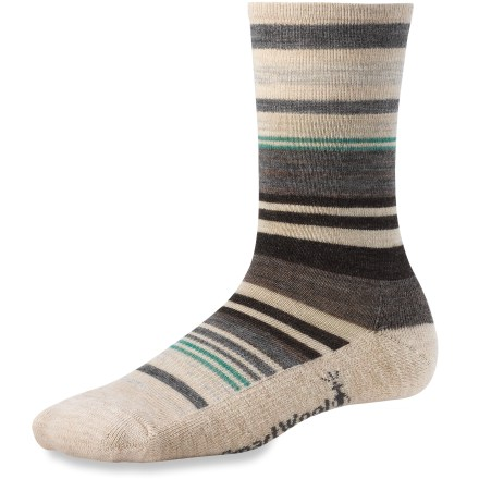 Entertainment Stripes beget smiles, and the SmartWool Jovian Stripe socks will supply plenty of them, thanks to cozy merino wool, cushioned construction, and of course, the fun stripes. - $20.95