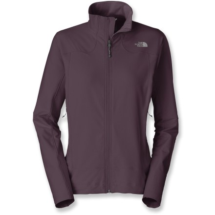 Hate being weighed down by heavy fabrics or bulky cuts? The North Face Iodin jacket for women has a barely-there feel that won't hold you back while you're trying to make time on the trail. Pertex(R) Equilibrium(R) fabric wicks moisture away from skin and transfers it to the outer surface for rapid evaporation, keeping you dry and comfortable. Added Durable Water Repellent finish allows water to bead up and roll off, keeping you dry in light rain or snow. The North Face Iodin jacket features 2 zippered front pockets that sit high on the torso for harness and pack compatibility. The North Face Summit Series(TM) apparel is designed and tested for use in harsh environments. - $64.83