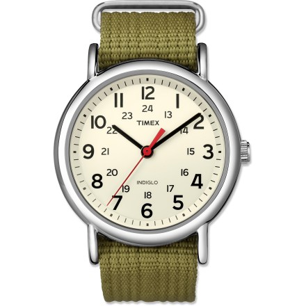 Entertainment The Timex Weekender watch is a fashionable and affordable timepiece that will stay in style for many seasons. It's the ideal accessory for a sophisticated yet casual look. - $19.93