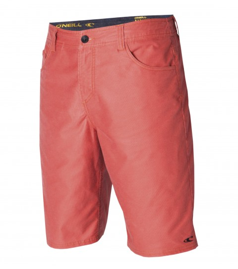 "Surf O'Neill Discord Hybrid Shorts.  Faux-Corduroy Stretch Polyester.  21"" outseam boardshort features zipper fly; internal waistband drawcord; denim-style; pockets; embroidered and screened logos. - $32.99"